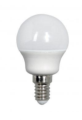 LED SMD Lamp bol G45 E14 450lm 2700K Opaal 320°