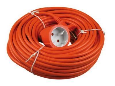 Verlengkabel 2x1mm 20m oranje