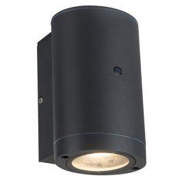 1000681 Led buitenlamp Kingston ovaal antraciet downlighter met sensor IP44