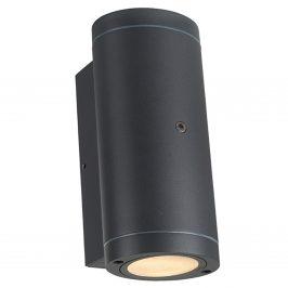 Led buitenlamp Kendal ovaal antraciet up en downlighter met sensor IP44