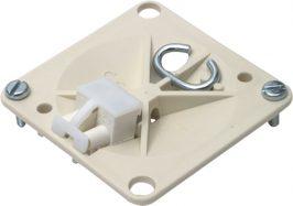 Deksel voor dozen voor montage in de wand/plafond Hafobox Centraaldoosdeksel vierkant met haak en steekbare kroonsteen CD/VK 1SPA007161F0175