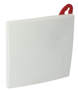 Sierafdekplaat vierkant wit
